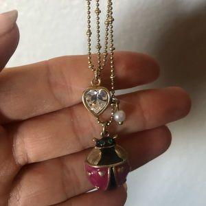 betsey johnson ladybug necklace